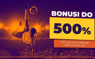 Bonusi Do 500%