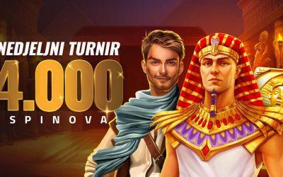 Nedjeljni turnir – 4.000 spinova